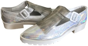 Miista Leather Loafer Iridescent white Flats