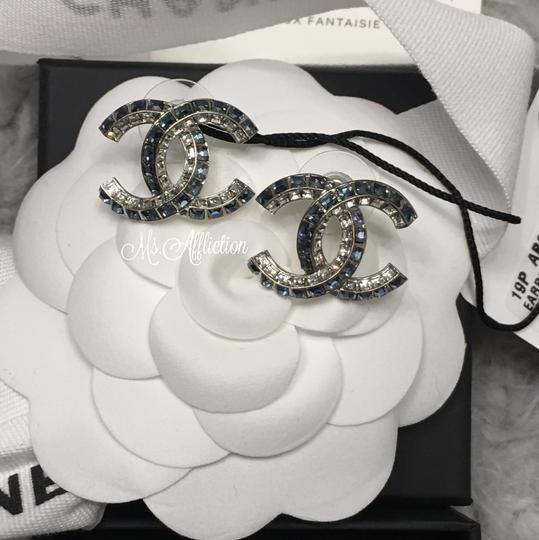 Chanel CHANEL Authentic Large CRYSTAL CC Earrings