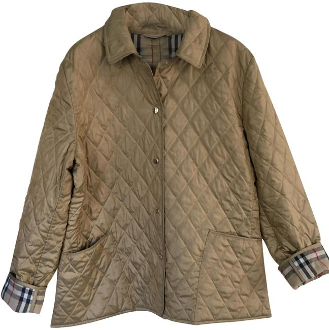 Item - Champagne Gold London Quilted Coat Tan Coat Jacket Size 12 (L)