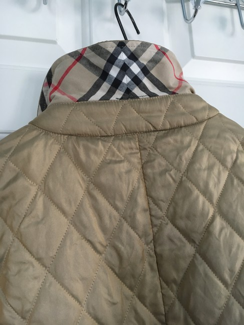 Burberry Tan Quilted Champagne Gold Jacket Image 1