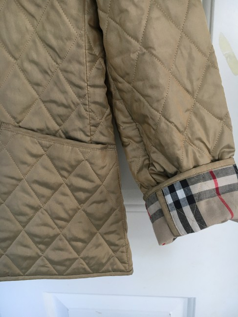 Burberry Tan Quilted Champagne Gold Jacket Image 2