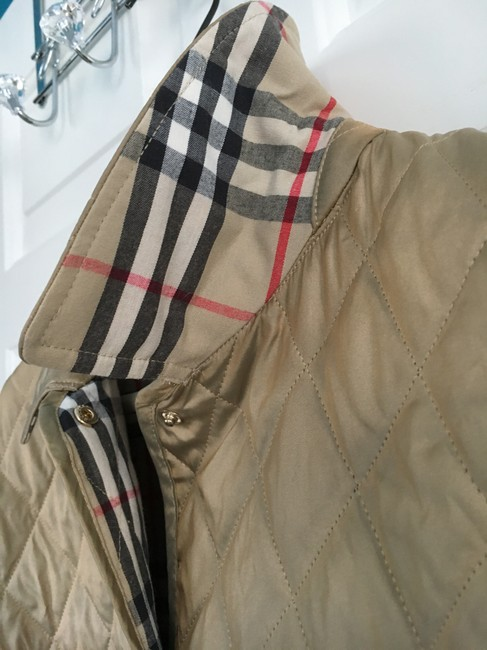 Burberry Tan Quilted Champagne Gold Jacket Image 3