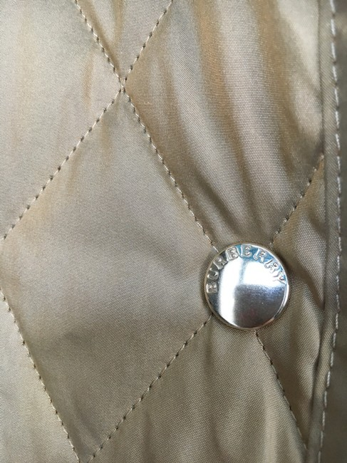 Burberry Tan Quilted Champagne Gold Jacket Image 5