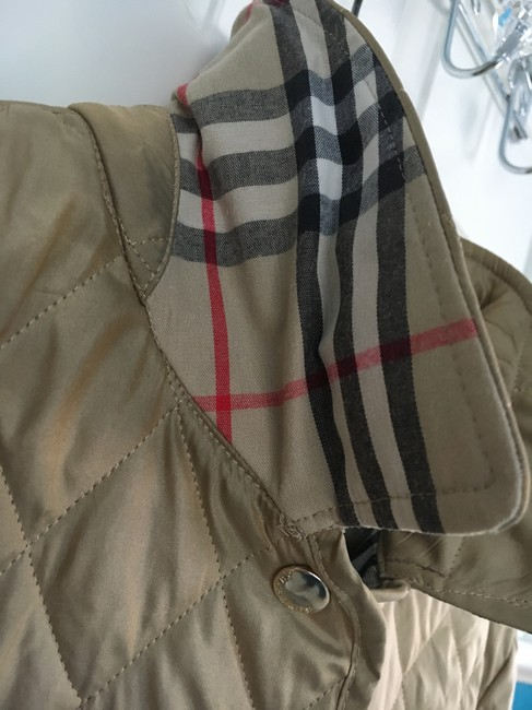 Burberry Tan Quilted Champagne Gold Jacket Image 6