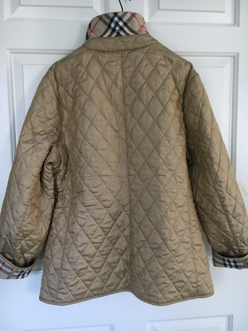 Burberry Tan Quilted Champagne Gold Jacket Image 7