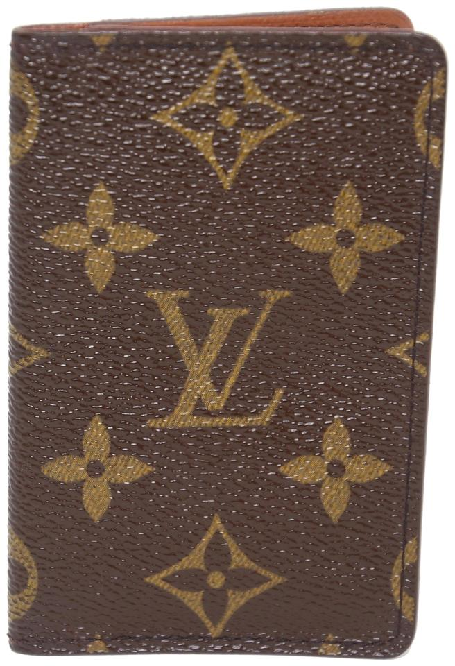 2d65d5921b83 Louis Vuitton Monogram Canvas ID Card Holder Bi-fold Flap Wallet Image 0 ...