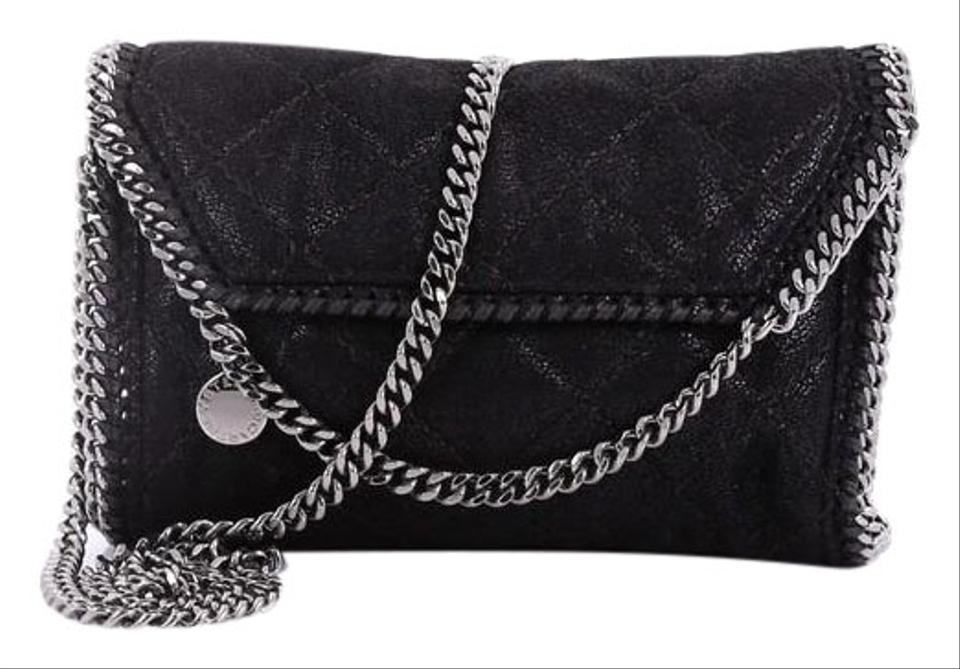 Stella McCartney Falabella Fold Over Flap Crossbody Quilted Shaggy ... 3ba8e1c13bebf