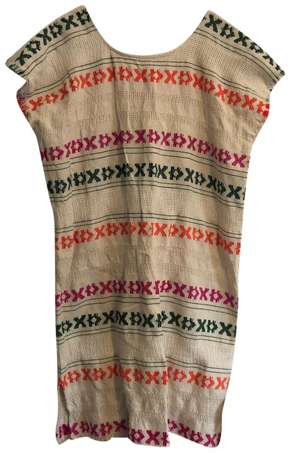 Item - Tan Share with Cotton Print Short Casual Dress Size 8 (M)