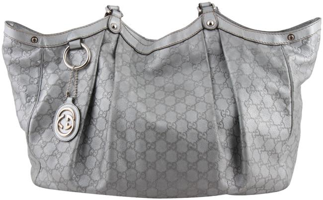 Item - Sukey ssima Large Silver Leather Tote