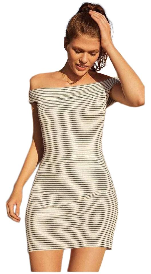 4a747122481 Urban Outfitters White Striped Short Casual Dress Size 8 (M) - Tradesy