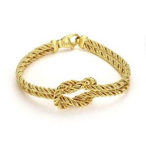 Marco Bicego 18k Gold Love Knot Double Rope Chain Bracelet