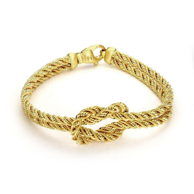 Marco Bicego #59396 18k Gold Love Knot Double Rope Chain Bracelet Marco Bicego #59396 18k Gold Love Knot Double Rope Chain Bracelet Image 1