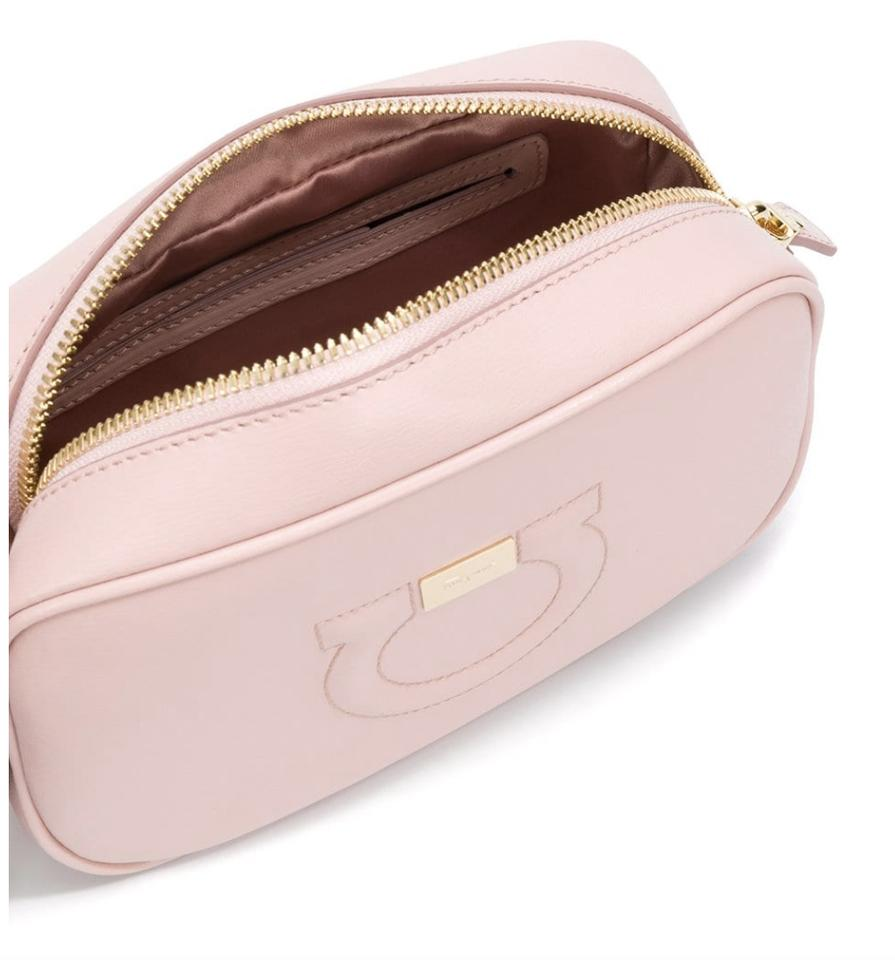 Salvatore Ferragamo Gancio City Camera Pink Leather Cross Body Bag ... 33e2edc2b8d92