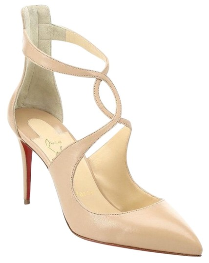 Preload https://img-static.tradesy.com/item/24734177/christian-louboutin-nude-rosas-85-kid-leather-criss-cross-ankle-strap-sandal-low-heel-pumps-size-eu-0-1-540-540.jpg