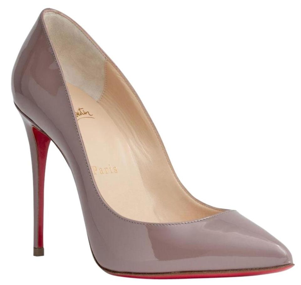 a1006a47dc97 Christian Louboutin Pigalle Follies 100 Patent Leather Nude Pigalle Follies  Taupe Beige Pumps Image 0 ...
