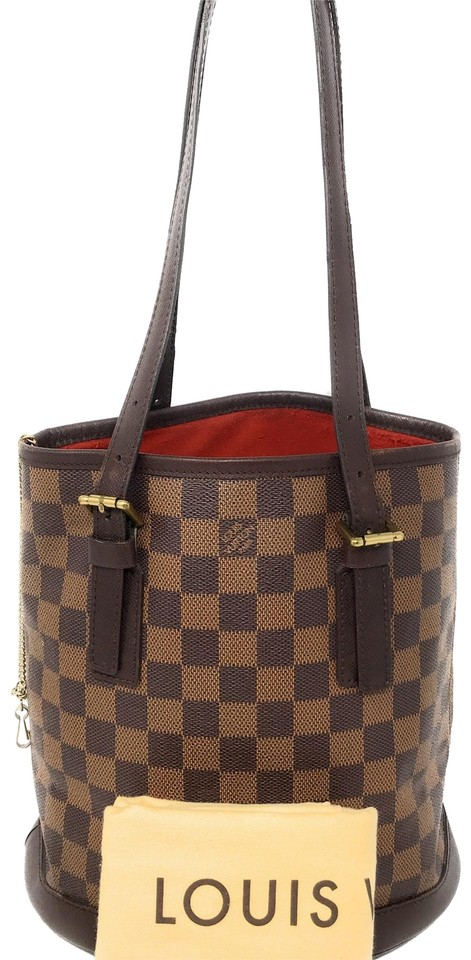 2b40cf5bee0e Louis Vuitton Bucket With Pouch - Small Brown Damier Ebene Tote ...