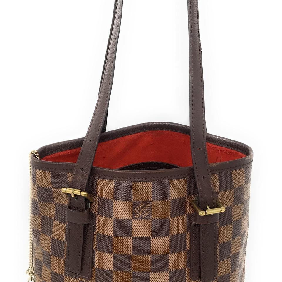 3b80311dc05f Louis Vuitton Bucket With Pouch - Small Brown Damier Ebene Tote ...