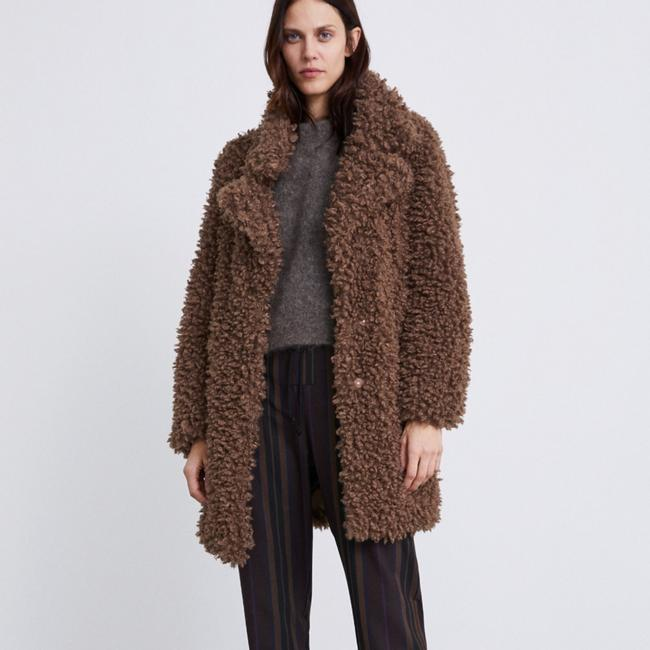 Item - Taupe Brown Soft Faux Coat Size 4 (S)