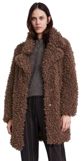 Item - Taupe Brown Soft Faux Coat Size 2 (XS)