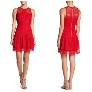 Parker short dress Red Mini Lace Valentines on Tradesy