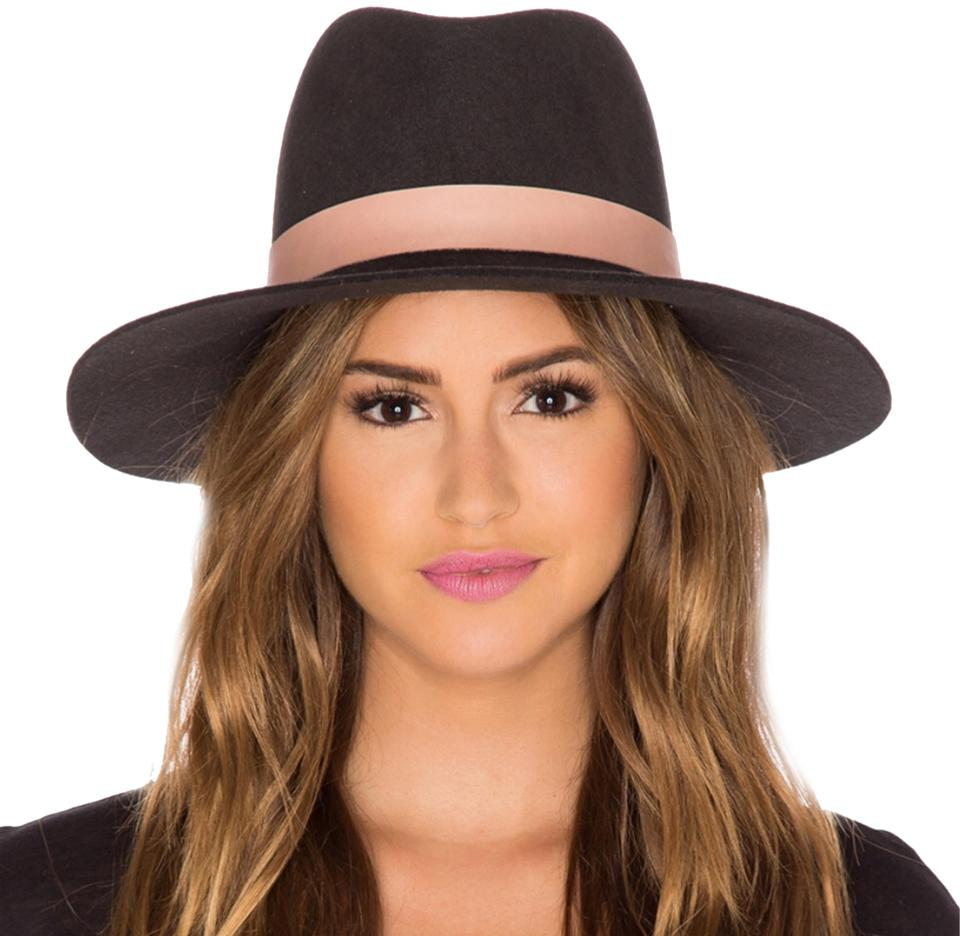eef8de02a3bb5f Janessa Leone Brown and Nude Quartz Wool Fedora Hat - Tradesy