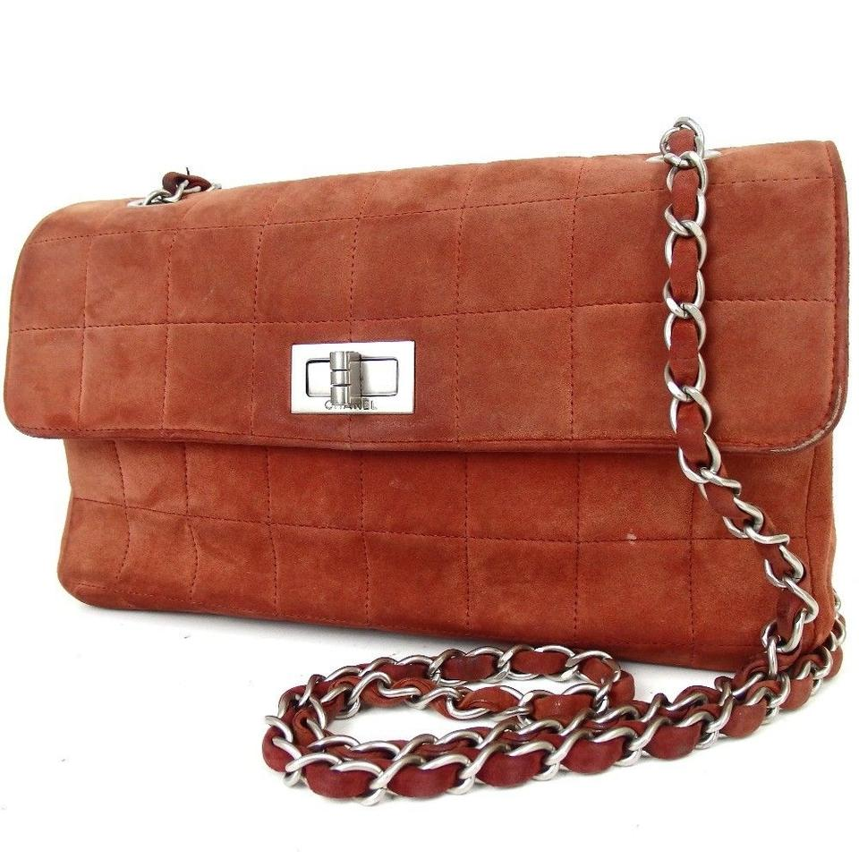 642878c53ae Chanel Quilted Chocolate Bar Red Silver Lambskin Clutch - Tradesy