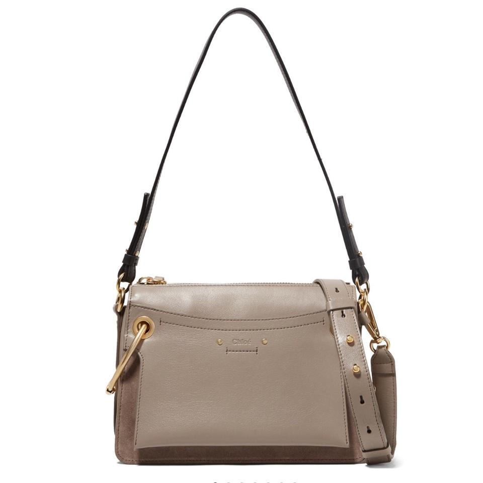80c5200d Chloé Roy Small Leather and Suede Shoulder Bag