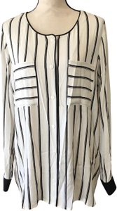 Vince Camuto Button Down Shirt Ivory, Black