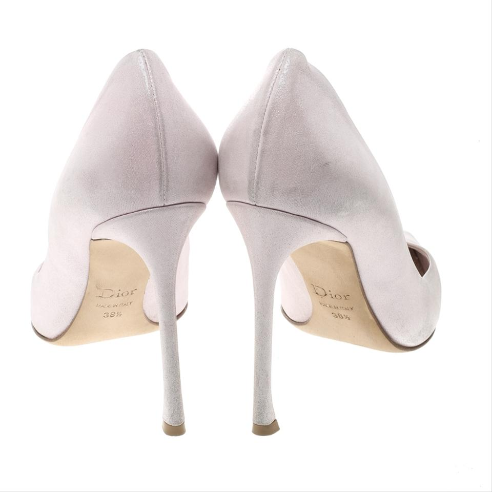 9c3f942a8d Dior Blush Pink Shimmering Suede Pointed Pumps Size EU 38.5 (Approx ...