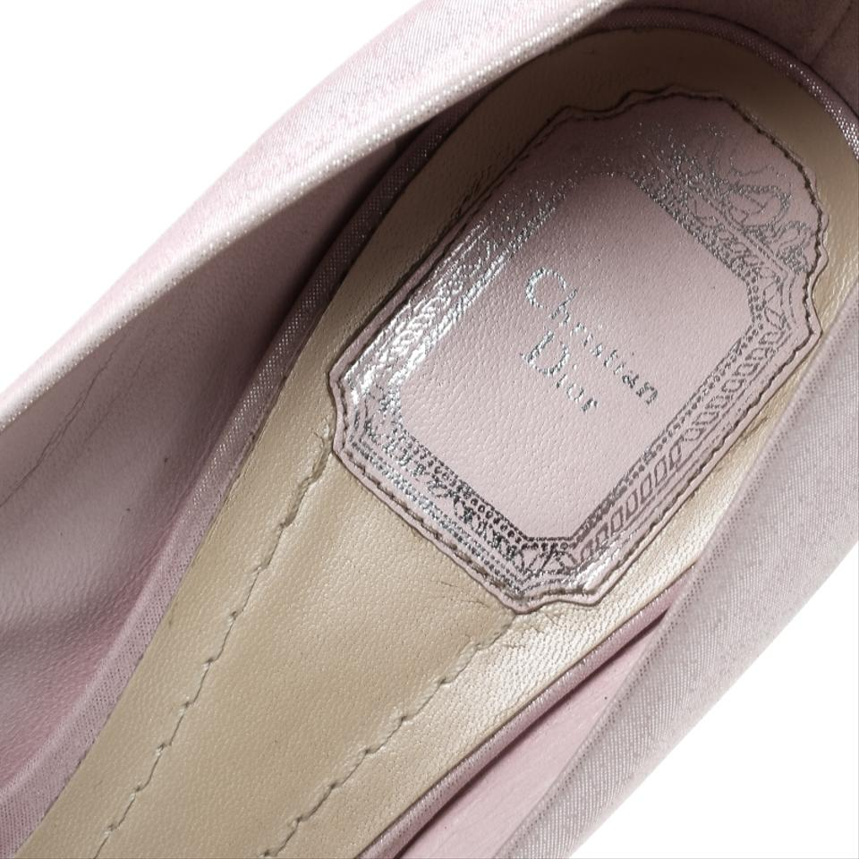 6c99adf1e Dior Blush Pink Shimmering Suede Pointed Pumps Size EU 38.5 (Approx ...