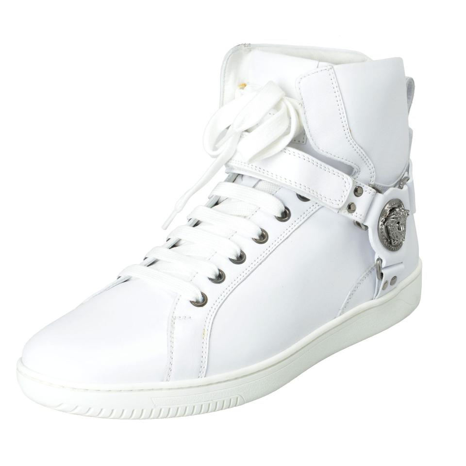 6a8d8dad Versace White Men's Leather Hi Top Fashion Sneakers Size US 8 Regular (M,  B) 44% off retail
