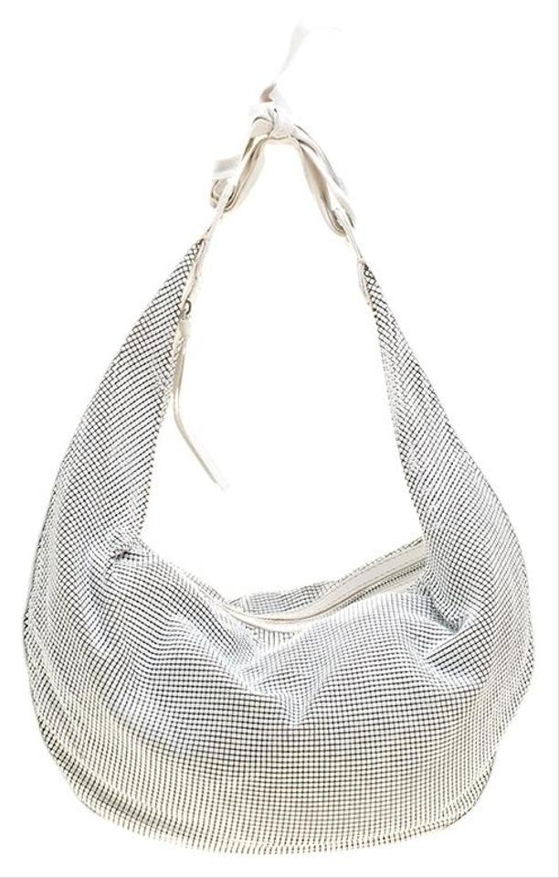 6c0ca546ed2c Chloé And Leather Mesh White Metal Hobo Bag - Tradesy