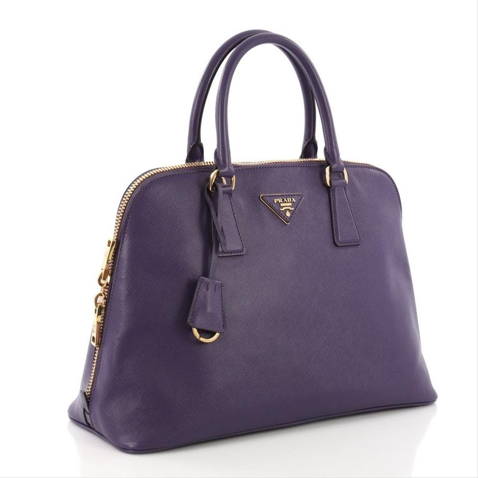 37696f7116f8 Prada Promenade Handbag Saffiano Medium Purple Leather Satchel - Tradesy