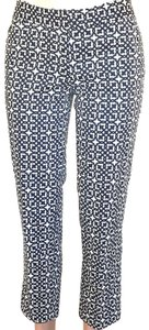 Laundry by Shelli Segal Capri/Cropped Pants Navy Blue and White