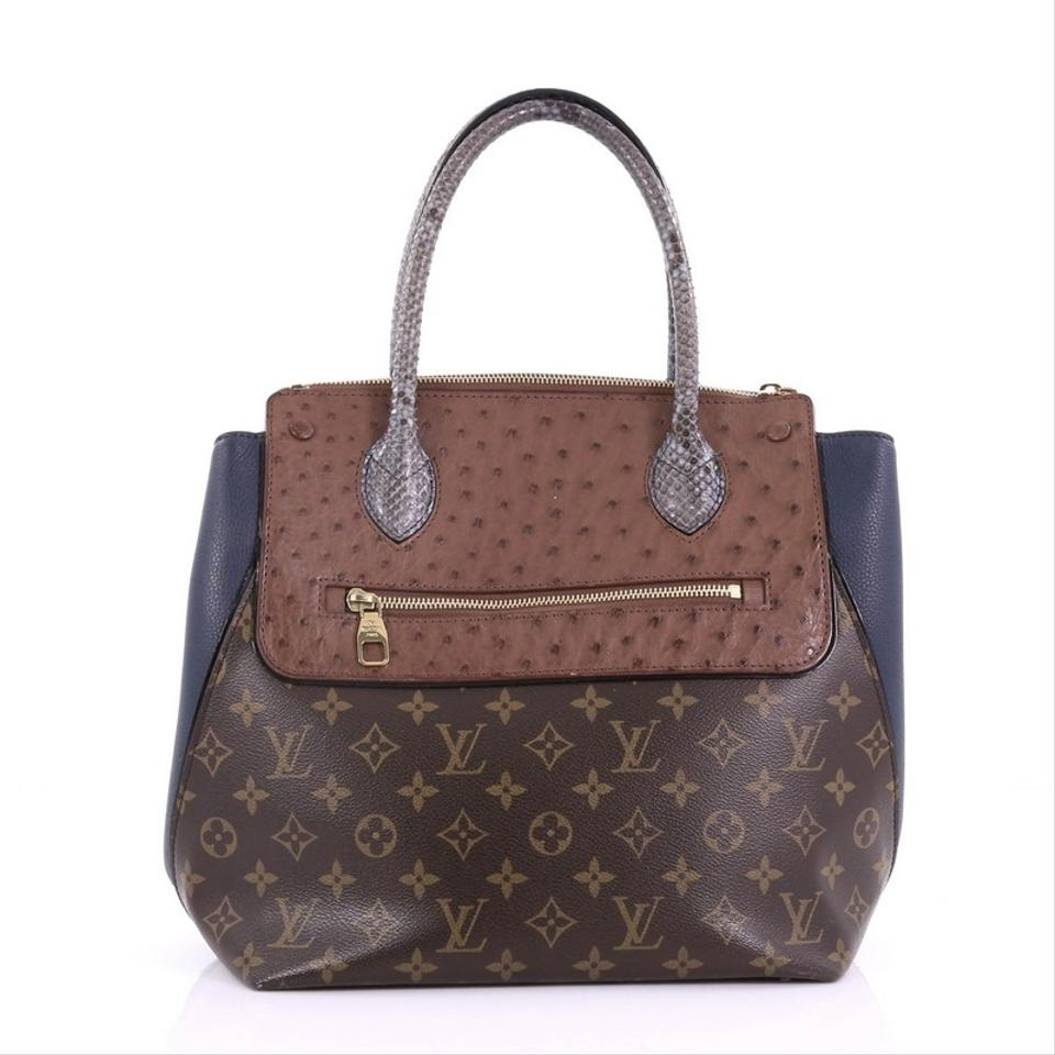2a8ebc988ede Louis Vuitton Majestueux Tote Monogram Mm Brown Canvas and Exotics ...
