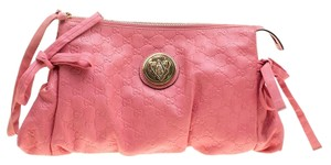 Gucci Leather Pink Clutch