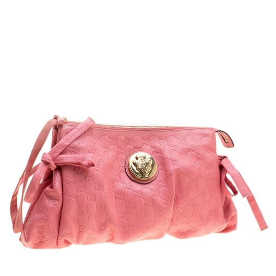 Gucci Leather Pink Clutch Image 2