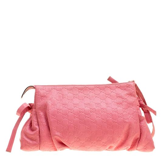 Gucci Leather Pink Clutch Image 3