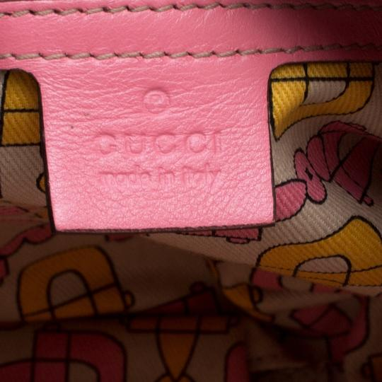 Gucci Leather Pink Clutch Image 7