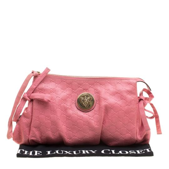 Gucci Leather Pink Clutch Image 9