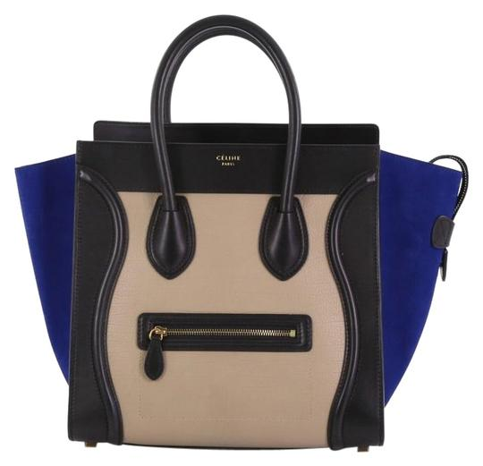 Preload https://img-static.tradesy.com/item/24735344/celine-luggage-tricolor-handbag-mini-black-leather-tote-0-1-540-540.jpg