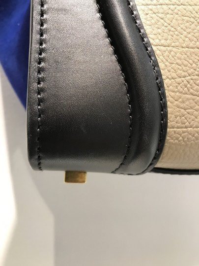 Céline Tricolor Leather Tote in Black