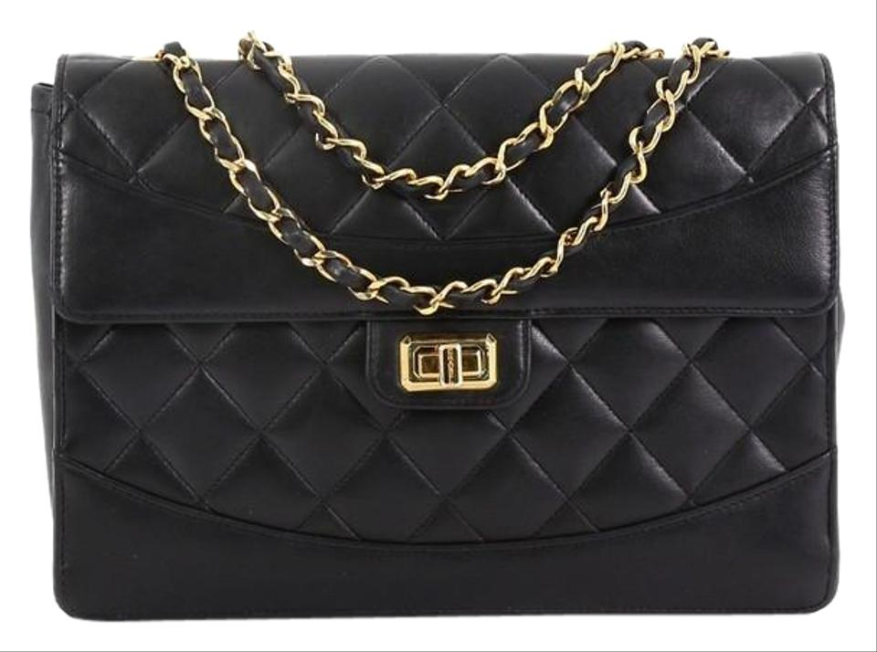 11eded879961ac Chanel Mademoiselle Classic Flap Vintage Quilted Medium Black Lambskin Leather  Shoulder Bag