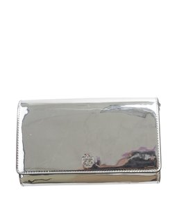 Tory Burch Metallic China Fabric Silver-tone Shoulder Bag