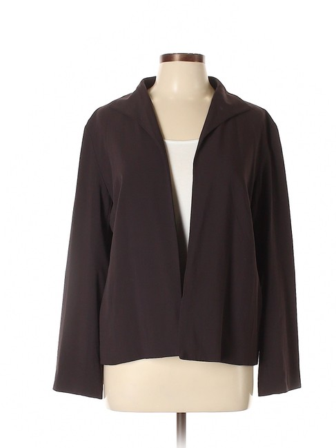 Item - Brown Open Front Jacket Size 12 (L)