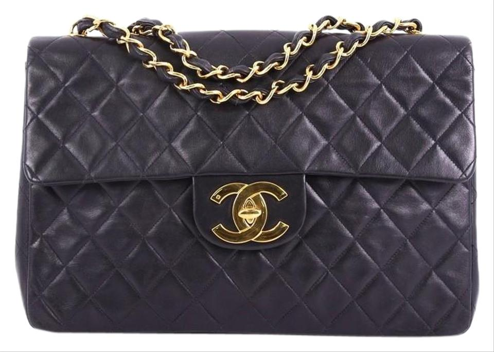 3bf41b0fdf6f Chanel Classic Flap Vintage Classic Single Quilted Maxi Black ...