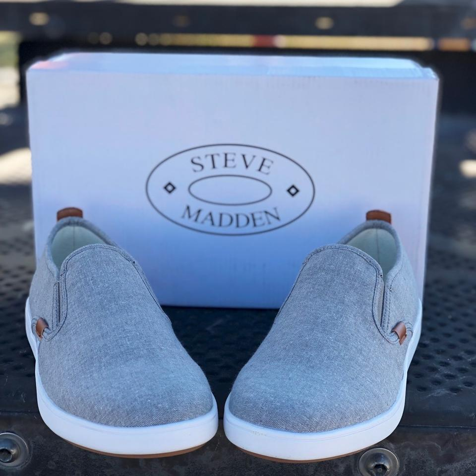 4d45ca5fccf Steve Madden Grey Fab Men's Glenly Slip-on Sneakers Size US 7.5 Regular (M,  B) 36% off retail