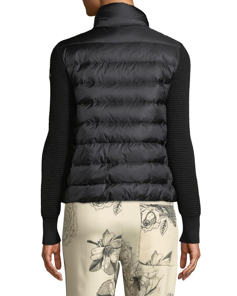 Moncler Maglione Tricot Cardigan Down/Quilted Black Women Jacket Coat Size  8 (M) 23% off retail