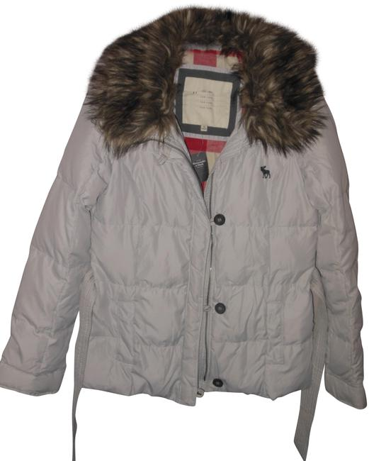 Item - Stone Quilted Filled Fleece Lined Removable Fur Collar Puffer M Coat Size 8 (M)