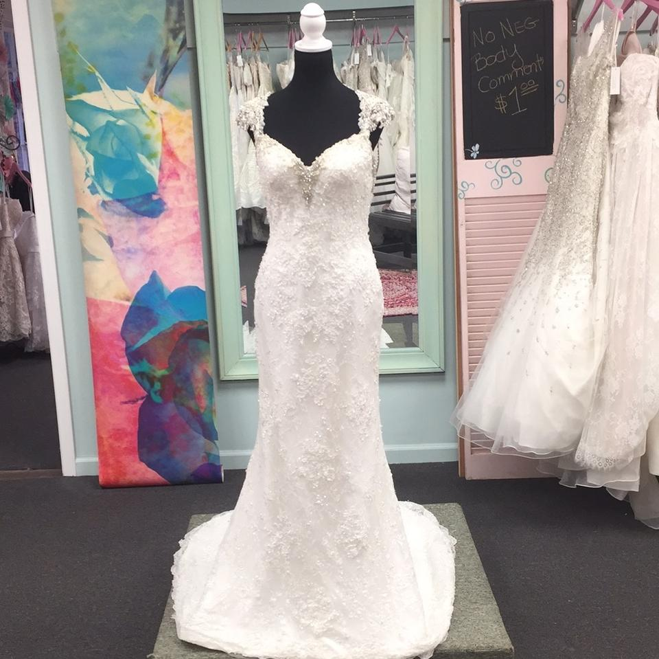Maggie Sottero Lace Wedding Gown: Maggie Sottero Ivory Lace Brandy Sexy Wedding Dress Size 8